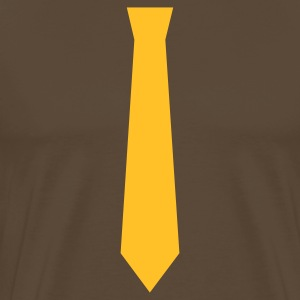 Brown Ties on Tees T-Shirts - Men's Premium T-Shirt