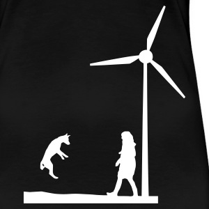 Black Sky Wind wheel for renewable energies T-Shirts T-Shirts - Women's Premium T-Shirt