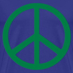 Himmelblå peace sign T-skjorte - Premium T-skjorte for menn