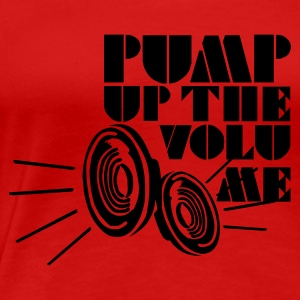Rot Pump up the Volume Girlie - Frauen Premium T-Shirt