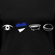 Design ~ Women's Eye Heart Bath Round Neck T-Shirt