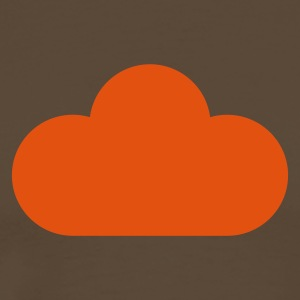 Brown weather symbols - cloud T-Shirts - Men's Premium T-Shirt