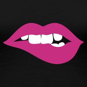 Schwarz innocent lips Girlie - Frauen Premium T-Shirt