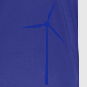Himmelblå Wind wheel for renewable energies T-Shirts - Herre premium T-shirt