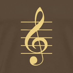 Brown G-Clef T-Shirts - Men's Premium T-Shirt