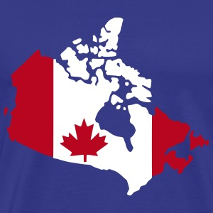Kongeblå canada flag map T-Shirts - Herre premium T-shirt