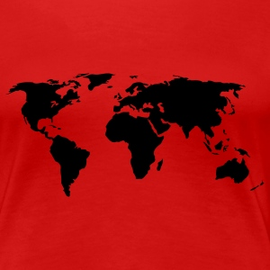 Red World Map Ladies' - Women's Premium T-Shirt