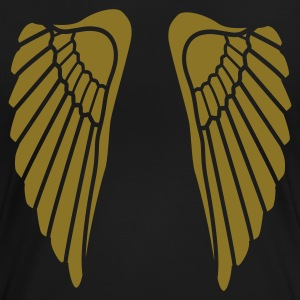 Zwart angel wings Dames t-shirts - Vrouwen Premium T-shirt