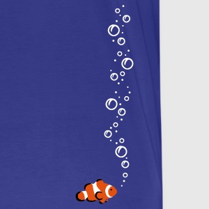 Royal blue Clownfisch with bubbles Men's Tees - Men's Premium T-Shirt