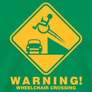 Bottlegreen ::WHEELCHAIR CROSSING:: T-Shirts - Männer Premium T-Shirt