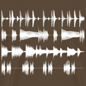 Brown White waveforms Men's Tees - Men's Premium T-Shirt