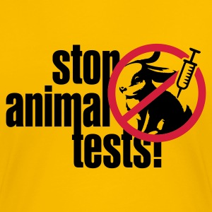 Gelb ::STOP ANIMAL TESTS:: T-Shirts - Frauen Premium T-Shirt