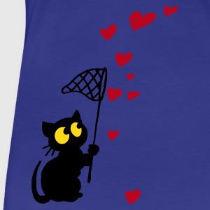 Aqua cat catches hearts Women's Tees - Women's Premium T-Shirt