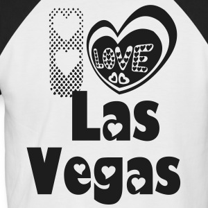 I LOVE LAS VEGAS T-SHIRT - Men's Baseball T-Shirt