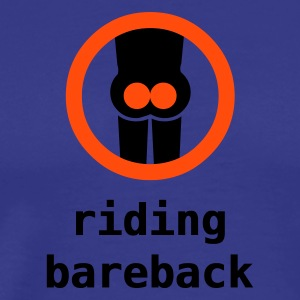 riding bareback hurts - Herre premium T-shirt