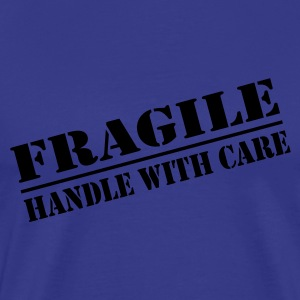 Fragile - handle with care - Premium T-skjorte for menn