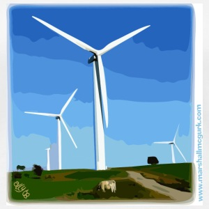 Women's Windfarm t-shirt - Women's Premium T-Shirt