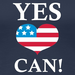 Navy Yes We Can!  T-shirts - Vrouwen Premium T-shirt