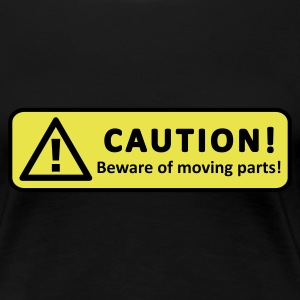 Black Caution! Women's Tees - Women's Premium T-Shirt