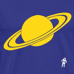 Kongeblå Saturn - Planet - Astronaut - Space T-shirts - Herre premium T-shirt