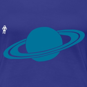 Aqua Saturn - Astronaut - Space - Planet Women's Tees - Women's Premium T-Shirt