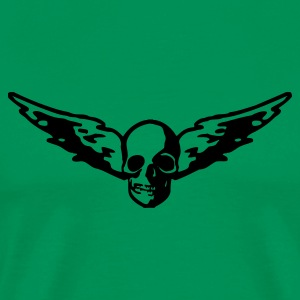 Flying skull - Männer Premium T-Shirt