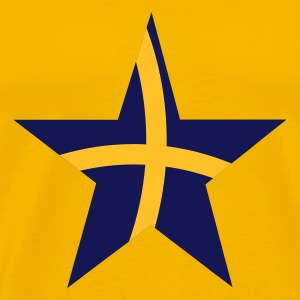 Gul swedish star T-shirt - Premium-T-shirt herr