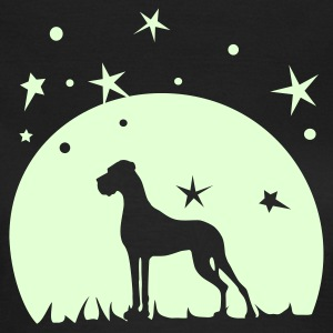 Olive Dogge, Mond, Sterne T-Shirts - Frauen T-Shirt