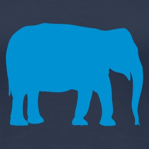 Elefant - Afrika - Savanne T-Shirts Navy - Frauen Premium T-Shirt