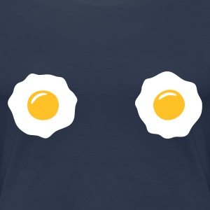 Navy egg boobs - eierbrüste T-Shirts - Frauen Premium T-Shirt