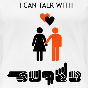I can talk with hands - Frauen Premium T-Shirt
