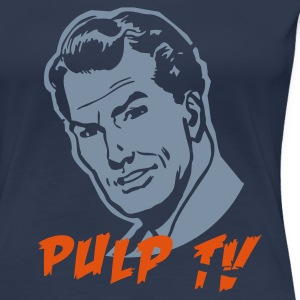 Navy pulp TV man Girlie - Frauen Premium T-Shirt
