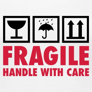 Weiß fragile - handle with care T-Shirts - Frauen Premium T-Shirt