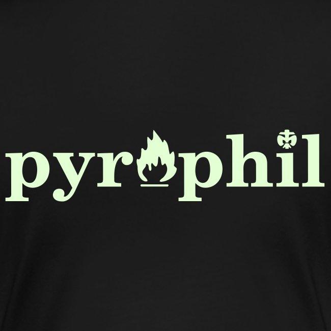 "Girlie-Shirt ""Pyrophil"" (glow in the dark)"