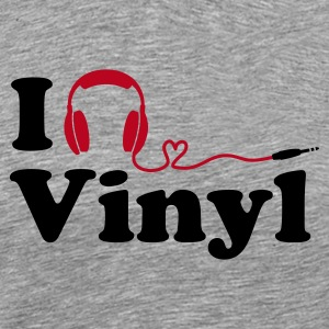 (Basic) I Listen to (Love) Vinyl - Männer Premium T-Shirt