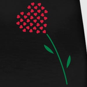 Schwarz valentines day love heart flower v3 (© alteerian) T-Shirts - Frauen Premium T-Shirt