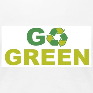 GO GREEN WHITE TEE - Women's Premium T-Shirt