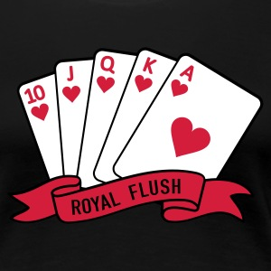 Schwarz Royal Flush T-Shirts - Frauen Premium T-Shirt