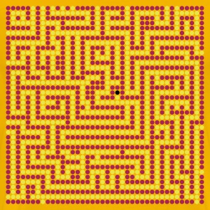 Yellow Labyrinth - Maze - meander Men's Tees - Men's Premium T-Shirt