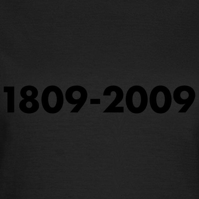 1809-2009, Flockdruck Schwarz, verschiedene Farben