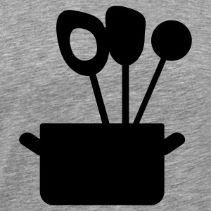 cooking utensils in a pott - Men's Premium T-Shirt