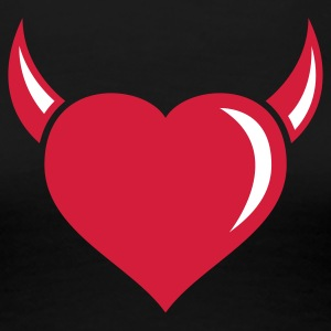 Devil heart - Frauen Premium T-Shirt