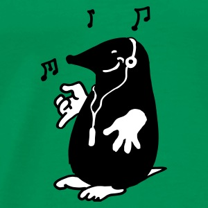 Kelly green mole with music T-Shirts - Men's Premium T-Shirt