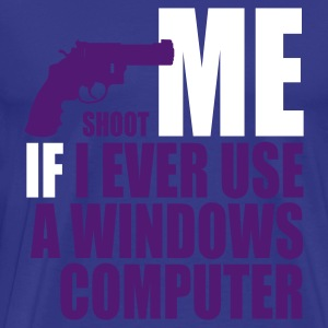 Himmelblå use_a_windows_computer T-shirts - Herre premium T-shirt