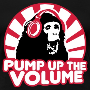 Schwarz Pump up the Volume Girlie - Frauen Premium T-Shirt