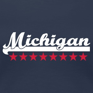 Navy michigan T-Shirts - Frauen Premium T-Shirt
