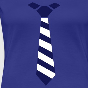 Turkis Striped Tie Damer - Dame premium T-shirt