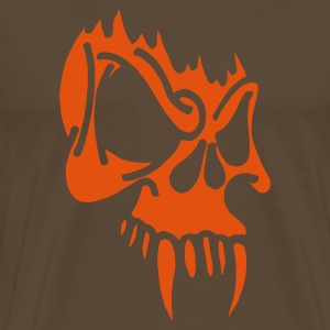 Evil Skull with Fangs (v1, 1c, MPes) - Camiseta premium hombre