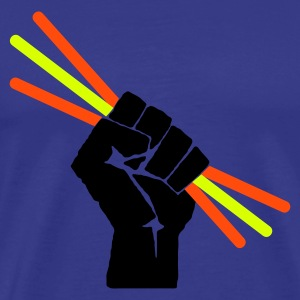 Himmelblå Glowstick - Party - Rave T-shirts - Herre premium T-shirt