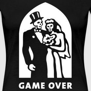 game_over T-shirts - Dame premium T-shirt